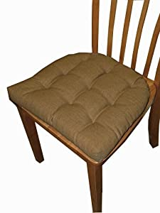 Small Patio Chair Cushion Rave Honey Brown Solid Color Woven F