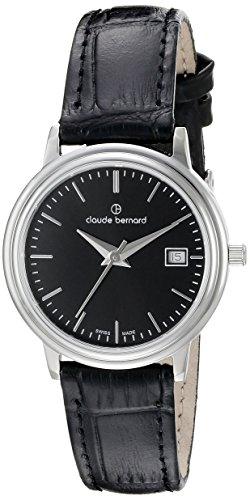 Claude Bernard Women's 54005 3 NIN Classic Ladies Analog Display Swiss Quartz Black Watch
