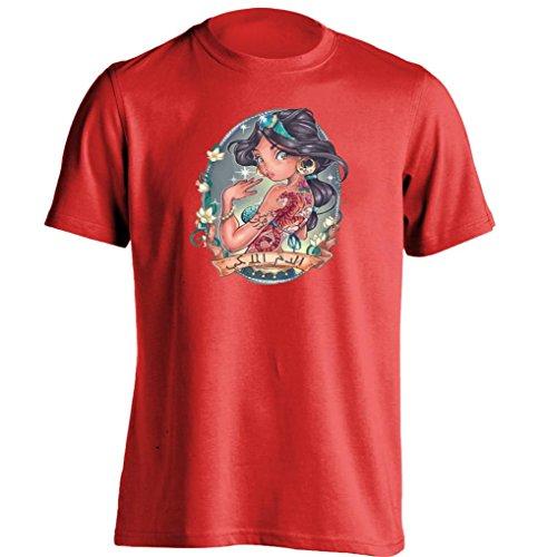 Aladdin Princess Jasmin Pin Up Tattoo Disne Princess Mens & Womens T Shirt (Aladdin Jasmin)