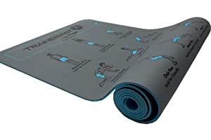 TRAINERmat Yoga (Grey) - Illustrated Yoga Mat (w/Perfect-Form DVD)
