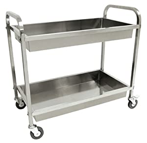 Bayou Classic 4873 Stainless Steel Serving Cart by Bayou Classic