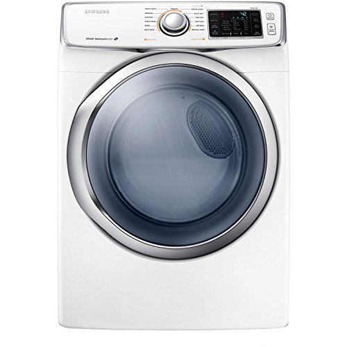Samsung Dv42H5400Ew 7.5 Cu. Ft. Front-Load Electric Steam Dryer With Drying Rack, White