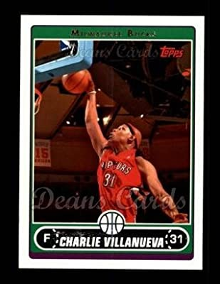 2006 Topps # 156 Charlie Villanueva Milwaukee Bucks (BasketBall Card) Dean's Cards 8 - NM/MT
