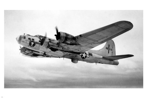 Boeing B17 FLYING FORTRESS USA poster 24X36 Bomber WW2 vintage photo RARE