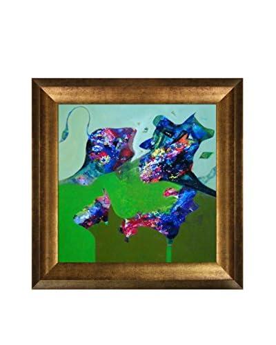 Sanjay Punekar Power III Framed Canvas Print