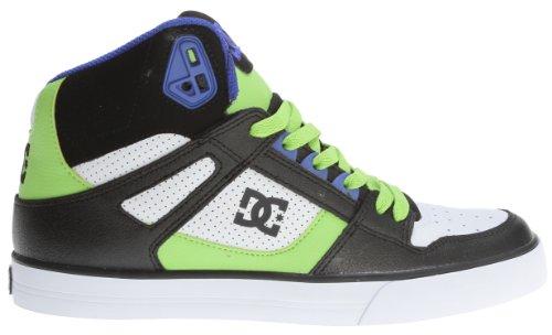 DC Men's Spartan Hi WC Sneaker,Black/White/Soft Lime,11 M US