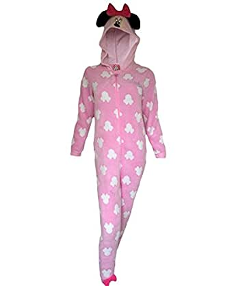primark essentials pyjama combinaison pour fille motif minnie mouse rose 11 12 ans rose. Black Bedroom Furniture Sets. Home Design Ideas