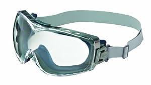 Uvex S3970D Stealth OTG Safety Goggles, Navy Body, Clear Dura-streme Hardcoat/Anti-Fog Lens, Neoprene Headband