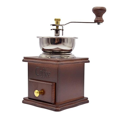XHSP Vintage Mini Manual Coffee Grinder Wooden Hand Coffee Mill Herbal Medicine Grinding Machine 2