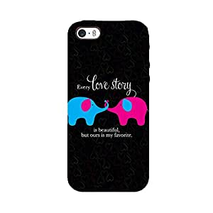 Skintice Designer Back Cover with direct 3D sublimation printing for Apple iPhone 5/5S