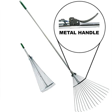 ATEpro Steel Folding Rake Telescopic Leaf Rake Gardening Tool at Sears.com