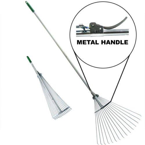Telescopic Rake Folding Rake Garden Rake Heavy Duty Foldable Rake