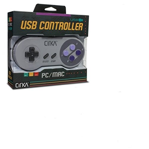 CirKa S91 SNES-Style Retro Classic USB Controller for PC/Mac (Nes Emulator Console compare prices)