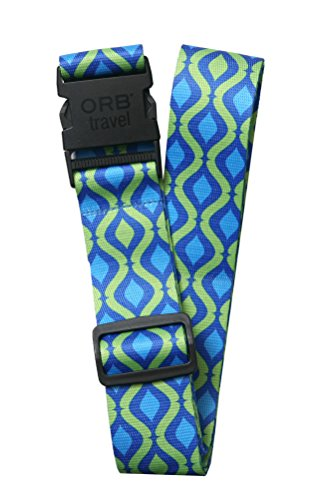 ORB Travel Luggage Strap Helix Blue/Green 2