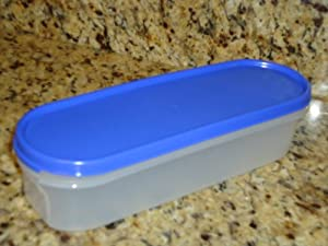Tupperware Modular Mates Super Oval 1 Container- Blue Seal