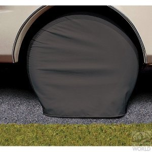 "Adco Motorhome Tire Covers - Bus 40"" - 42"" Black"