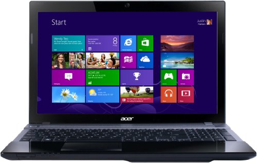 Acer Aspire V3-571 15.6-inch Laptop - Black (Intel Core i3 3110M 2.4GHz, 6GB RAM, 500GB HDD, DVDSM DL, LAN, WLAN, BT, Webcam, Integrated Graphics, Windows 8 64-bit)