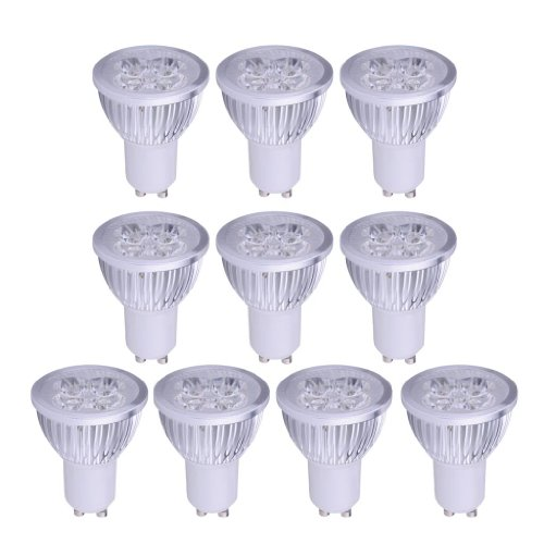 3 X GU10 3.5W LED Bulbs DayLight White Light Spotlight Spot Bulb