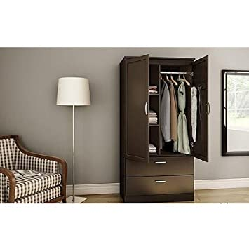 South Shore Acapella Wardrobe Armoire, Chocolate