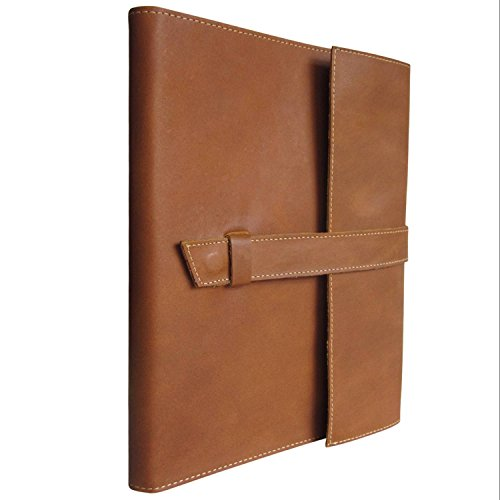 LARGE Leather Journal, Lined Notebook, Handmade, Refillable Gift Men & Women, 10 X 8.5 X 1.5 (Light Brown) (Italian Leather Journal Cover compare prices)