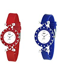 Zeit Red Round Analog Watches For Women - Pack Of 2