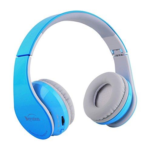 wireless headphones beyution bluetooth v4 1 over ear hifi stereo built i. Black Bedroom Furniture Sets. Home Design Ideas