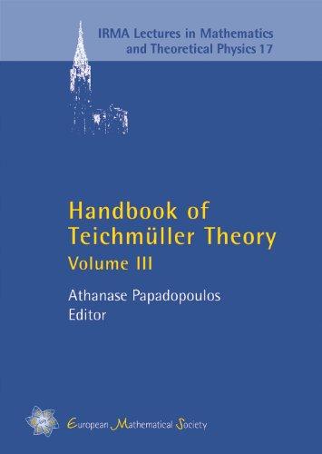 Handbook Of Teichmuller Theory Volume III