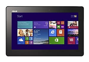 Asus T100 10.1-inch Transformer Book Tablet with Keyboard Dock (Grey) - (Intel Atom Z3740 1.8GHz Processor, 2GB RAM, 64GB SSD, LAN, WLAN, Webcam, BT, Windows 8.1)