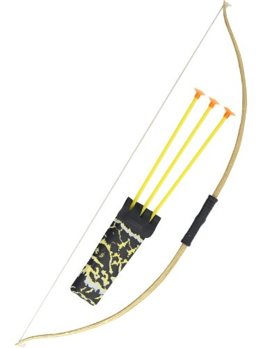 Smiffy's 73cm Wooden Effect Bow and Arrow Set