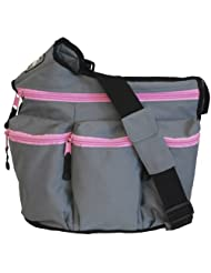 Diaper Dude Zipper Diva Bag Grey/Pink