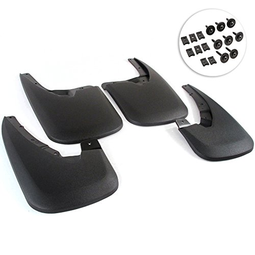 Custom Molded 2009-2017 Dodge Ram Model 1500 (WITHOUT FACTORY FLARES) Mud Flaps Mud Guards Splash Guards 4 Piece Front Rear (Does not fit 2009 2500/3500) will fit 2010-2017 Dodge Ram 2500/3500 (Mud Guards For Dodge Ram 2500 compare prices)