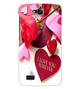 ColourCraft Love Quote Design Back Case Cover for HUAWEI HONOR HOLLY