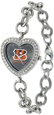 NFL Women's FH-CIN Heart Collection Cincinnati Bengals Watch