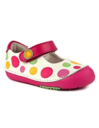 Momo Baby First Walker/Toddler Rainbow Dots Mary Jane Leather Shoes