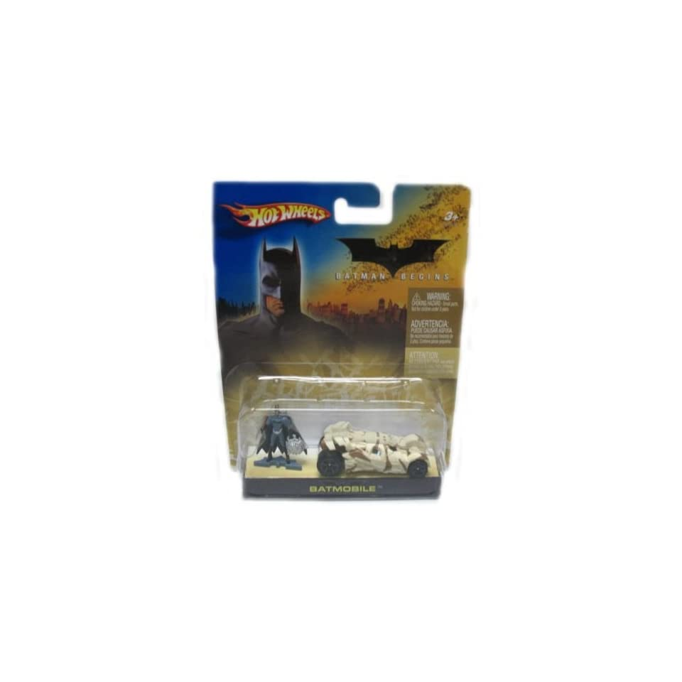 Mattel Hot Wheels 2005 164 Scale Batman Begins Camouflage Mini Batmobile and Figure Car Gift Set