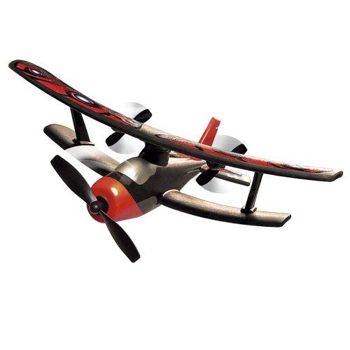 Silverlit - biplano con il radiocomando, 2 canali, rosso e nero (85648)