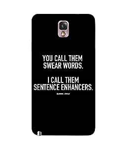 Swear Words Samsung Galaxy Note 3 Case