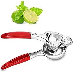 Gelindo lemon squeezer - premio mano lime spremiagrumi stampa con antiscivolo silicone gestisce - con tutti gli agrumi, il 100% di sicurezza degli alimenti - nella lavastoviglie, leggeri, robusta & durevole