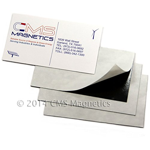 Cms Magnetics® Business Card Magnets, 20Mil, Package Of 50 front-486098