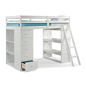 Canwood Skyway Loft Bed with Desk and Storage Tower, Twin
