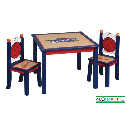 090e7051c9 Table Set Furnitures: Guidecraft Cleveland Cavaliers Kids Table And ...