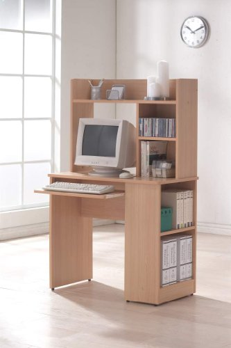 Flair 214 900mm Beech Computer Workstation for Small or Home Office