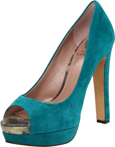 Vince Camuto Women's Graph Peep-Toe Pump,Tropic Teal,7.5 M US