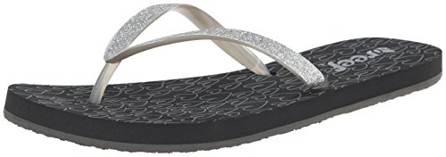 Reef Women's Stargazer Prints Flip Flop,Grey Hearts,9 M US