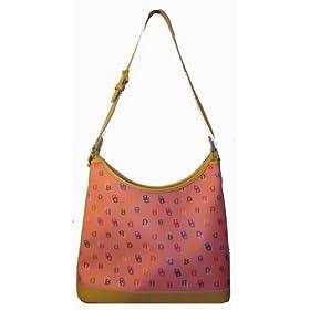 Dooney & Bourke Purse Handbag Ex-Large Hobo Pink Signature