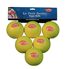 Buy Le Petit Tennis Foam Balls - Yellow Tennis Balls Kids - Pack6 - (Stage 3 Ball - For Playing on 36ft Court) by Le Petit Tennis