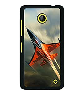 printtech Superfast Plane Jet Sky Back Case Cover for  Nokia Lumia 630 3G