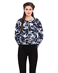 Ceylin Black Flower Coloured Cotton Jacket Small