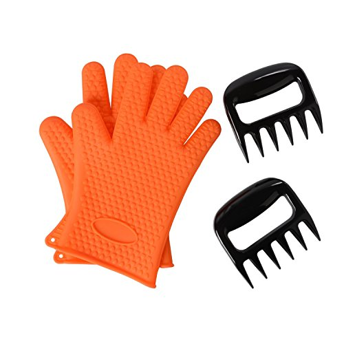 Review Of Silicone BBQ Gloves With Bear Claw Meat Shredder * Perfect for Shredding Smoked Meat &...