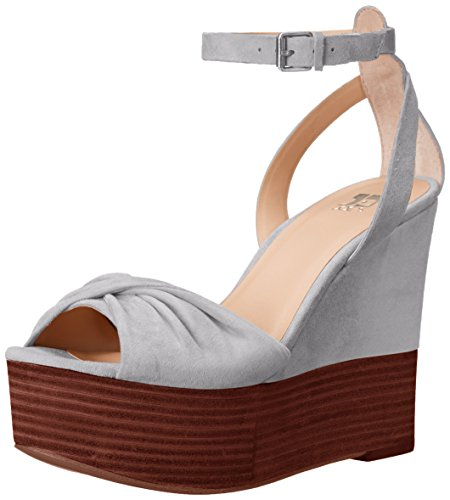 Joe's Jeans Women's Vassar Wedge Sandal, Grey, 7.5 M US